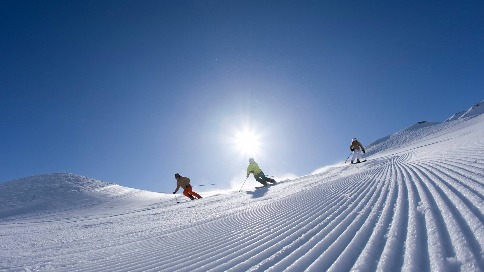 Forget the worm, the early-bird gets the freshly groomed pistes.